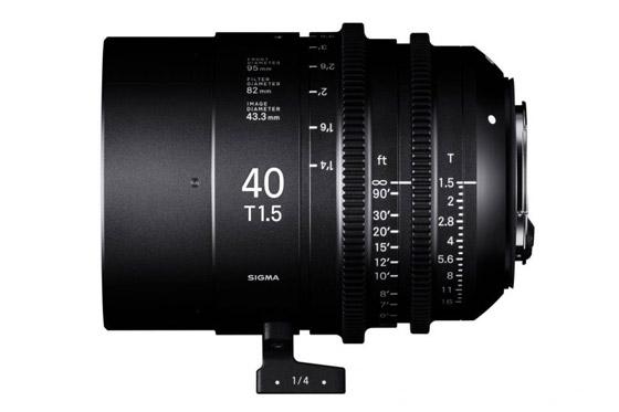 Sigma Cine 40mm T1.5 FF Prime lens