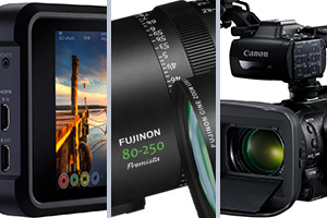 pre-nab product launches from canon, fujinon and atomos