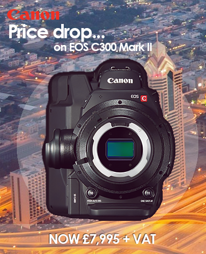 Canon EOS C300 Mark II Price Drop promo