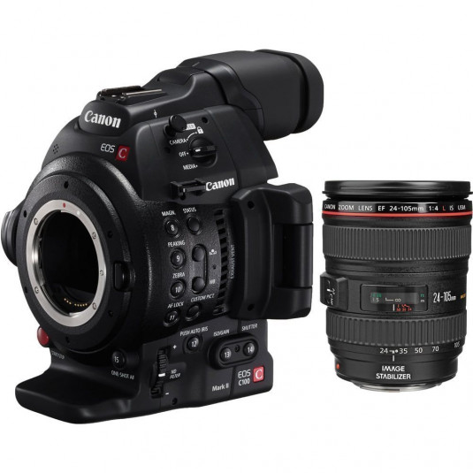 CANON CONSUMER C100 MARK II WITH 24-105MM LENS KIT Canon EOS C100 Mark II + 24-105mm Lens