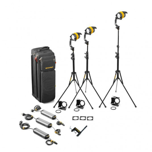 DEDO LIGHTS KDL4-T3B 3 Head 40W DLED Tungsten Basic Soft Case Kit