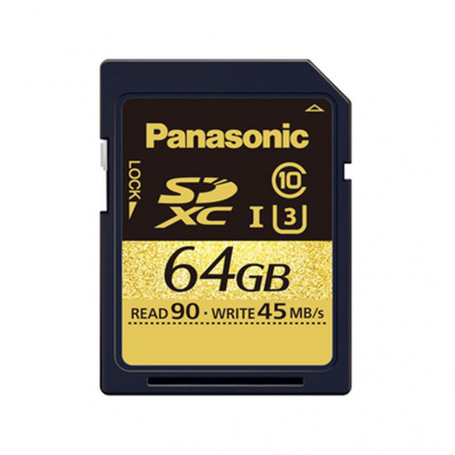 PANASONIC PAN-RPSDUC64GAK PANASONIC RP-SDUC64GAK SDUC 4K2k Class 10 SD Card (64GB)