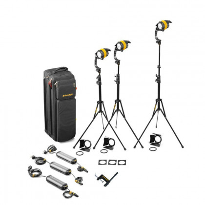 DEDO LIGHTS KDL4-D3B 3 Head 40W DLED Daylight Basic Soft Case Kit