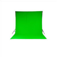 Chromakey Curtain 3 x 3.5m Gre