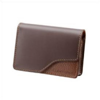 Brown Leather Carrying Case-DSC-W35