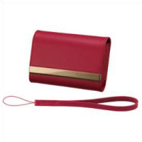 Red leather carrying case -DSC-T77/
