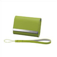 Green leather carrying case -DSC-T7