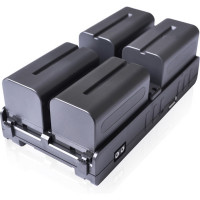 CINEROID 4IN1-SLVA Cineroid 4in1-SLVB 4-in-1 V-Mount Battery Hub for Sony NPF L Battery