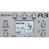 ZOOM UK A3 Zoom A3 Preamp & Effects for Acoustic Guitar