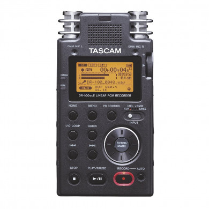 Tascam DR-100 MK2 (DR-100 Mark II) Portable Linear PCM Stereo Recorder