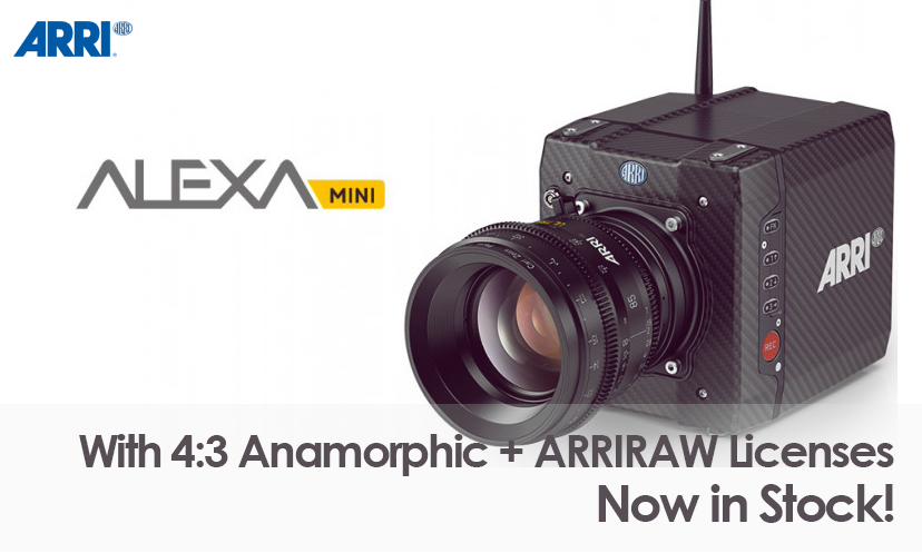 ARRI Alexa Mini (with 4:3 Anamorphic and ARRIRAW Licenses)