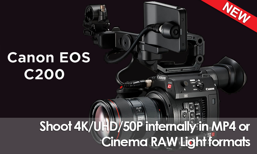 Canon EOS C200 4K Cinema Camera (EF Mount)
